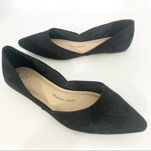 Time and Tru (9.5) Black Pointed Toe D'orsay Flats